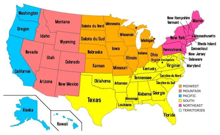 United States Regions National Geographic Society United States - Map of us geographic regions